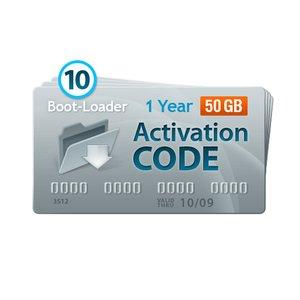 Boot-Loader v2.0 Código de activación (1 año, 10+3 códigos x 50+10 GB)
