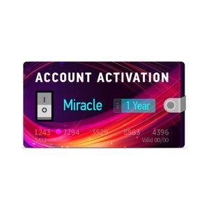 Годовая активация поддержки для Miracle