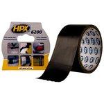 Лента армированная односторонняя HPX 6200, 50 мм, 5 м, черная