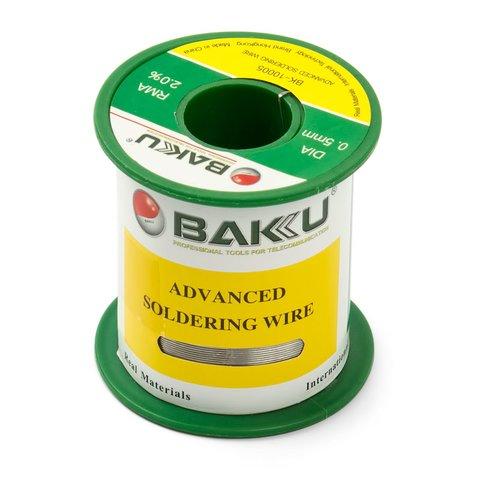 Припій BAKU BK 10005, Sn 97%, Ag 0.3%, Cu 0.7%, flux 2%, 0,5 мм, 50 г