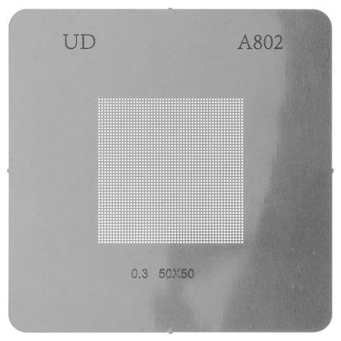 Універсальний BGA трафарет A802, крок 0,3 мм, 50*50