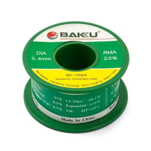 Solder Wire Baku BK 10005, Sn 97%,Ag 0.3%,Cu 0.7%, Flux 2% 0.4 mm, 50 g