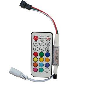 Controlador de luces LED con control remoto por radio LED2017-RF (RGB, WS2811, WS2812, WS2813, 5-24 V)